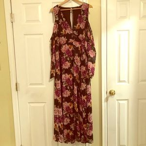 Torrid Floral Floor Length Dress